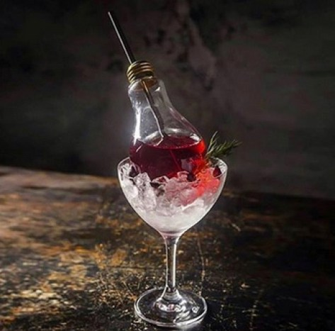 Flower | The Standing Room, NYC | $12 Dry gin, lavender, elderflower, cranberry Photo credit: @thirsty