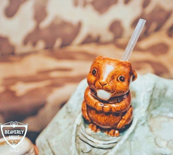 Here's Buddy | Beaver Lodge, London | $12 Beaver Moonshine and apricot liqueur, cranberry juice, passionfruit juice Photo credit: @beaverslondon
