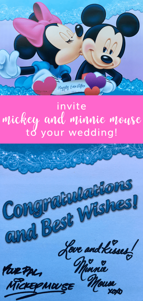 invite mickey and minnie mouse to your wedding