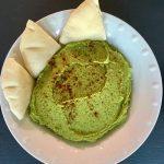 Homemade Spinach Hummus