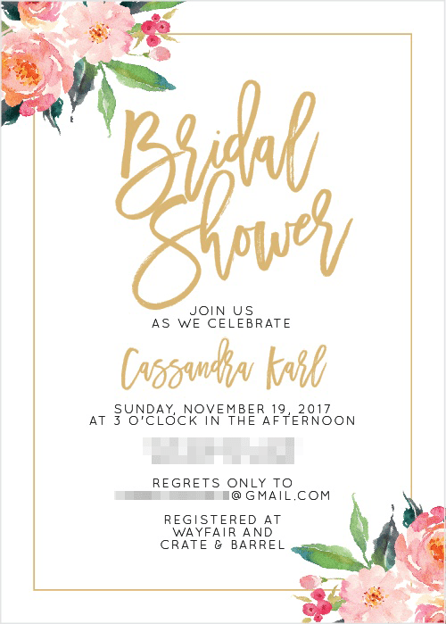 Basic Invite Bridal Shower Invitation