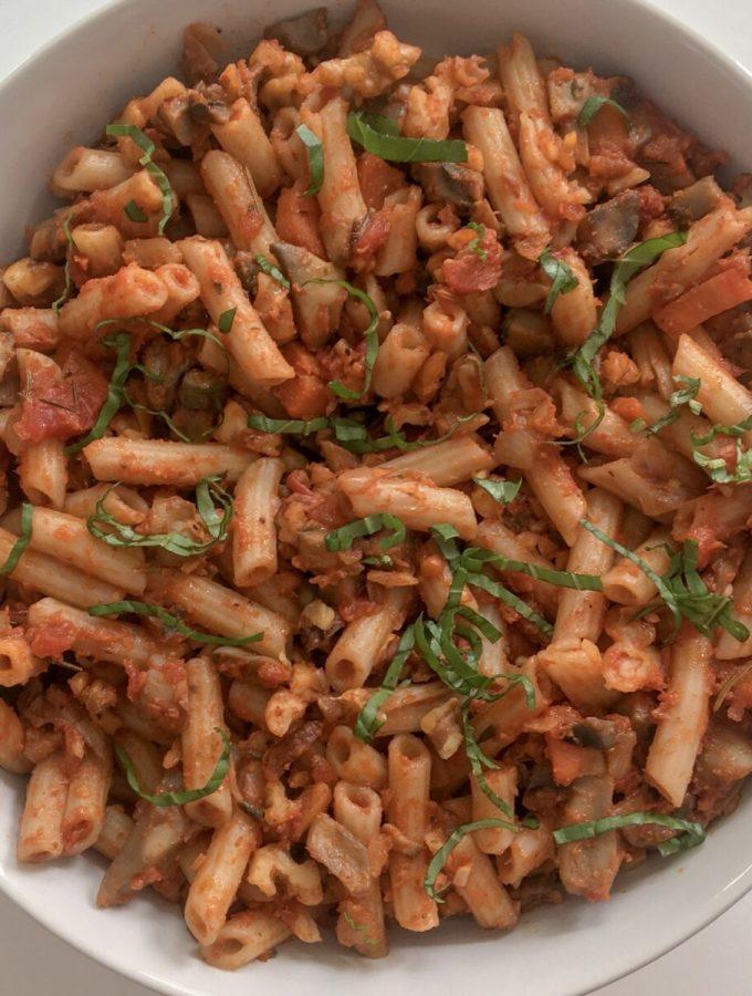 Mushroom & Walnut Bolognese (Vegan, Gluten Free)