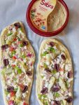 Naan Pizza with Hummus Vegetables