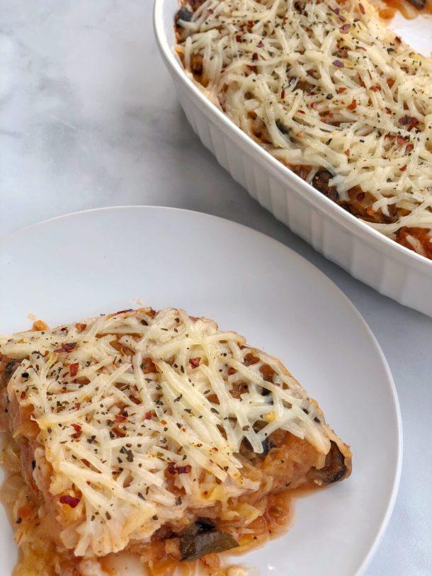 6-Ingredient Spaghetti Squash Pizza Casserole Recipe