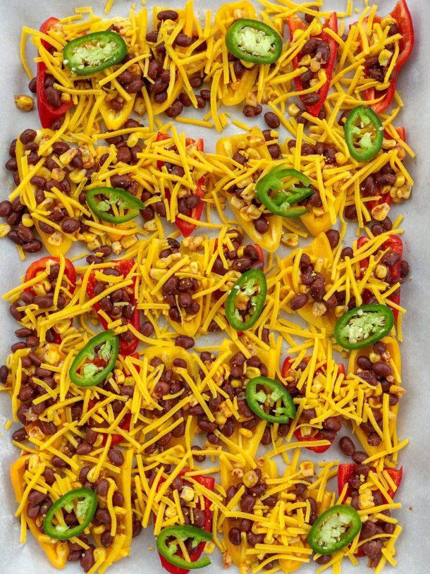 Vegan Dairy Free Gluten Free Mini Sweet Pepper Nachos Recipe