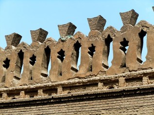 Cairo, Egypt - Detail of outer wall, Ibn Tulun Mosque