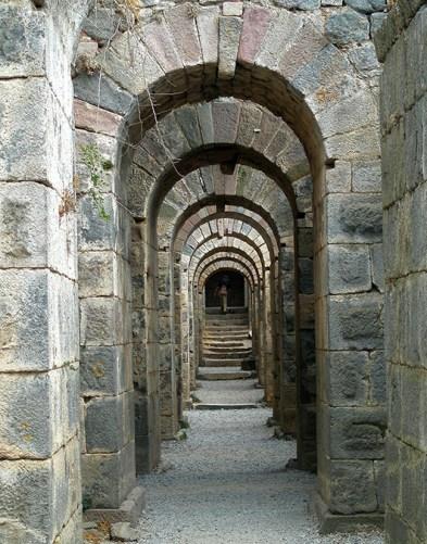 Pergamom, Turkey - Arches under Temple of Trajan