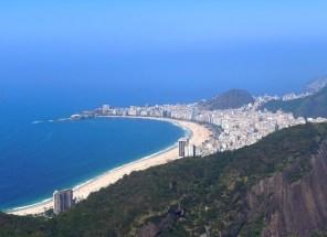 Copacabana beach from Pão de Açúcar