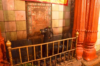 This was one of the most fascinating temples we visited. Khal Bhairav is a fierce avataar of Shiva who guards the city and keeps the God of death at abeyance. All rituals are performed in reverse, and the priests wear black! The hassle to empty your wallet is the only constant.