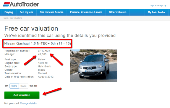 Autotrader Uk Car Valuation