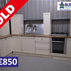Kitchen Store Com Hutch The Used A Great Alternative Solid Wood Painted Cream With Oven Hob Sink Kick Board Stylish Handles New Worktop And Drawers Only 850