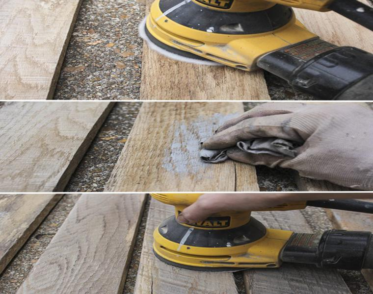 sanding wood pallet sander