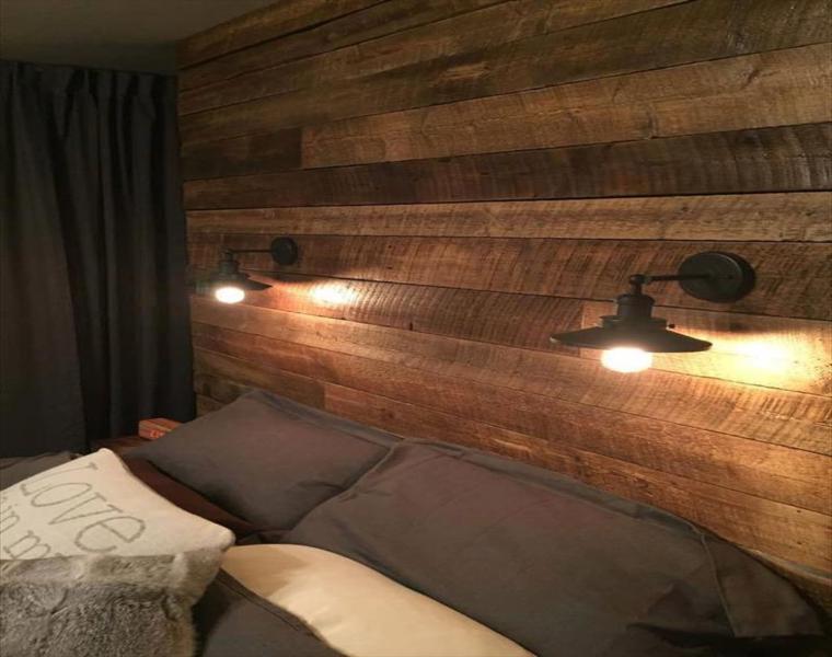super wall headboard wood pallet