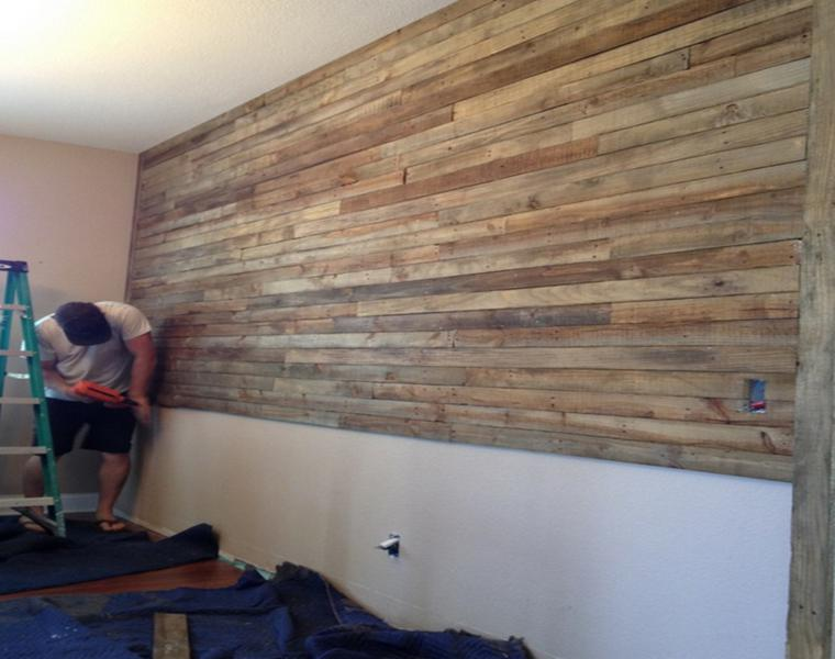 wall coverings wood slats