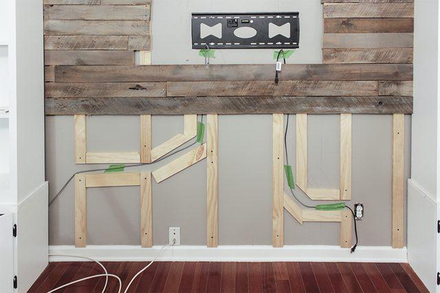 hollow wood slats cables