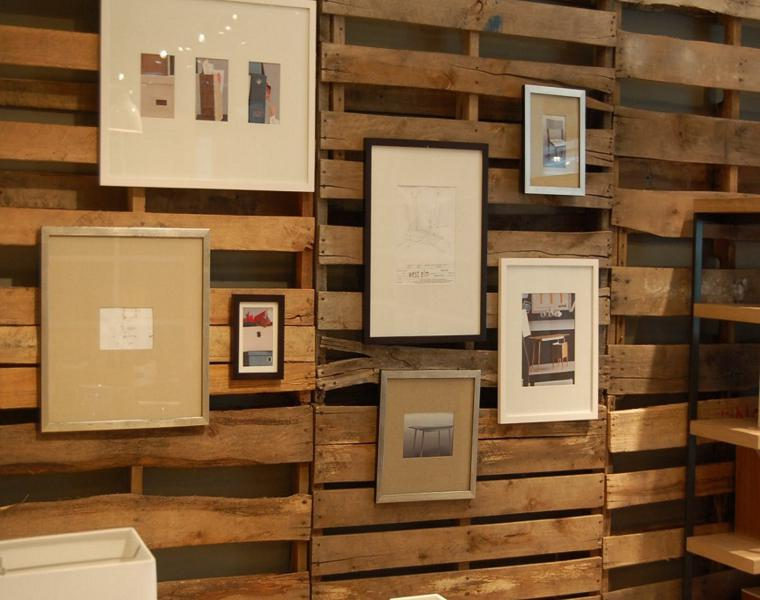 original coatings walls wood pallet