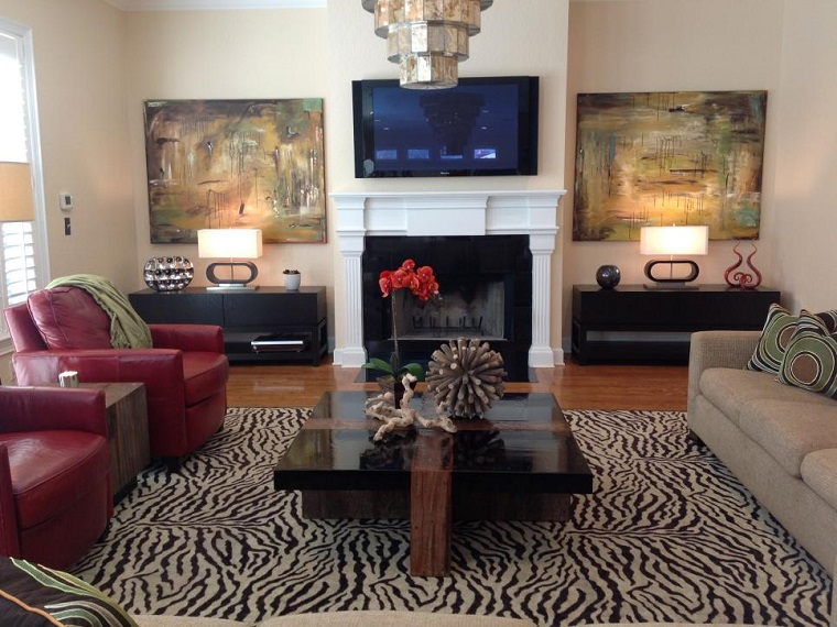 Debbie Perezsalon modern leather chairs pictures fireplace ideas