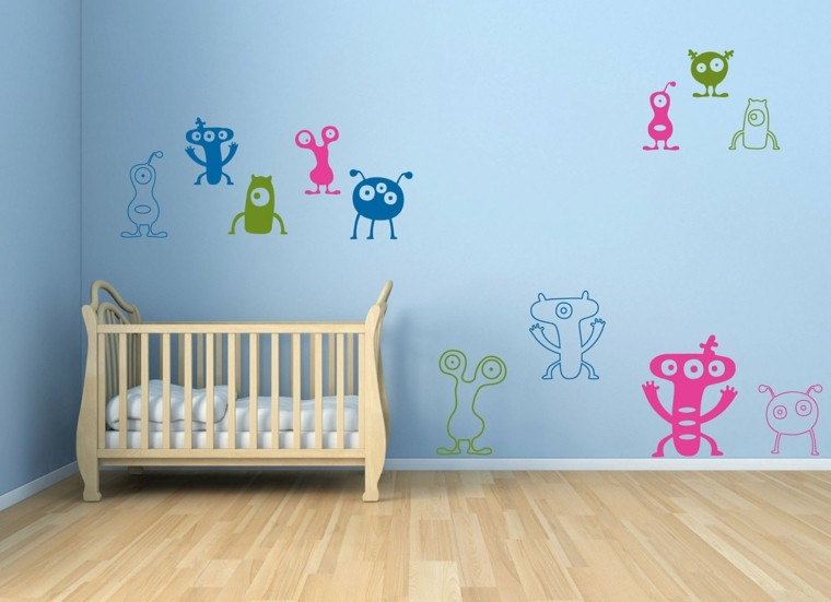 bedroom baby wall color blue