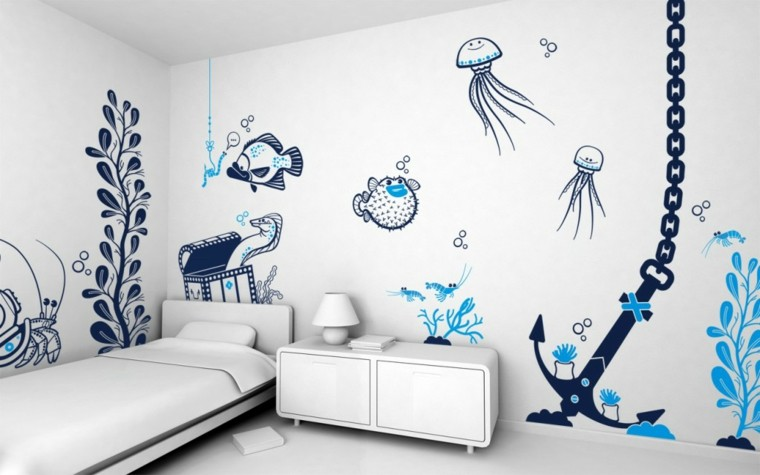 children's bedroom stickers marine world
