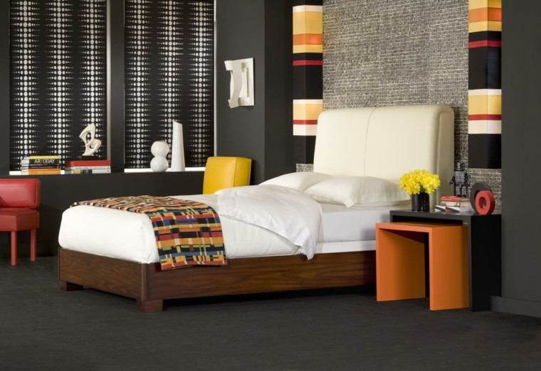 bedroom modern style mix colors
