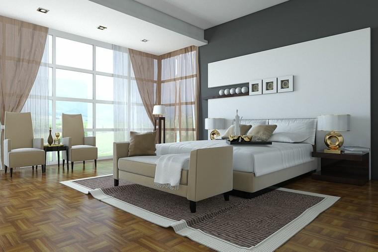 luxurious gray wall bedroom