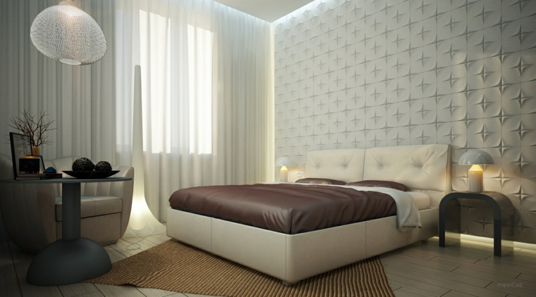 super design bedroom wall relief