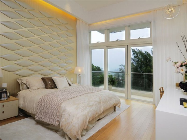 wall covering relief headboard