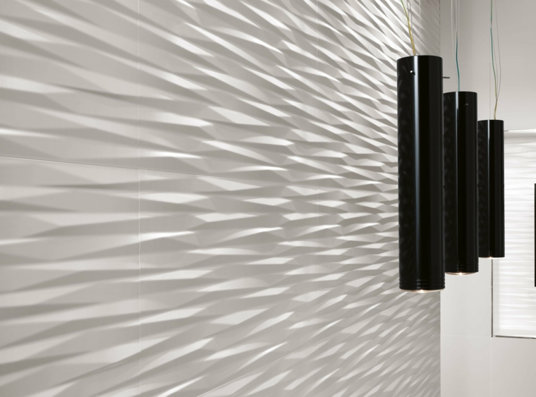 white wall modern reliefs deco