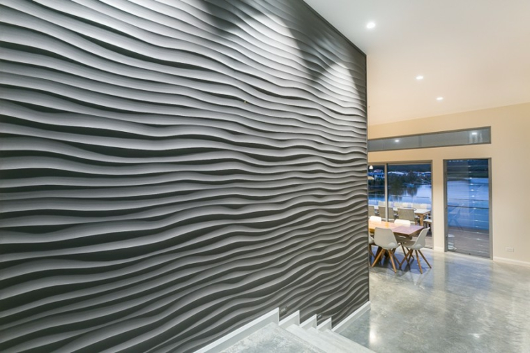 original design gray interior wall