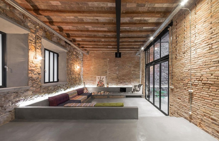 living-room-sunken-style-sofa-bohemian