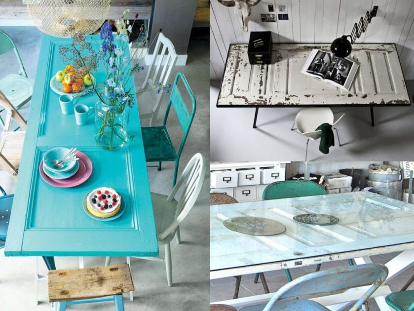 make tables with wooden doors