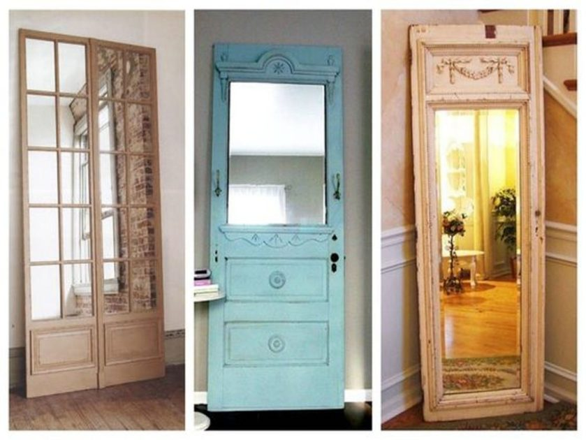 mirrors made with doors