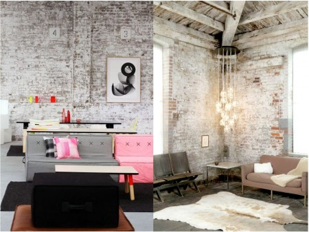 Industrial vintage decoration: walls