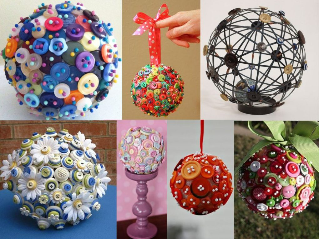 make sculptures with buttons