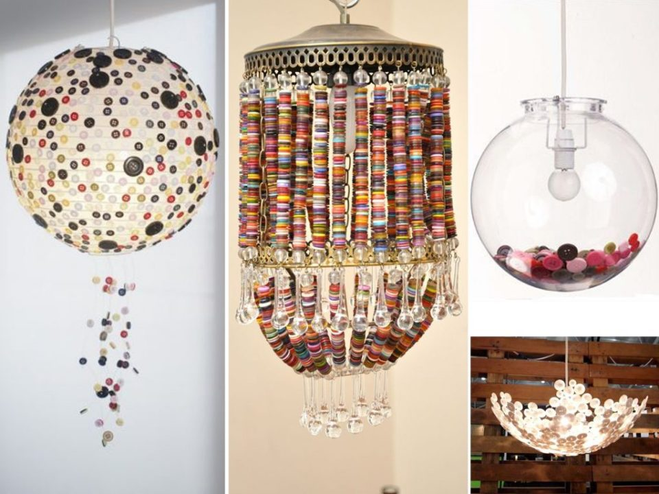 decorate lamps with buttons