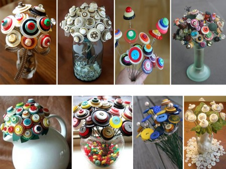 make flowers with buttons