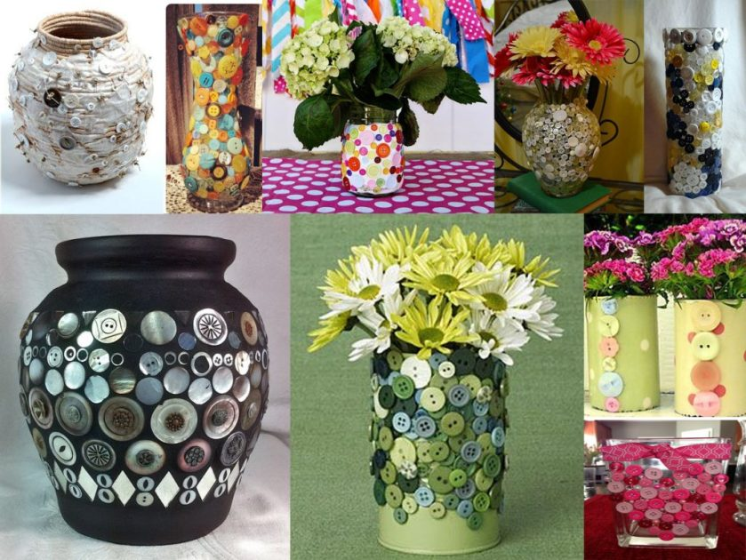 vases with buttons