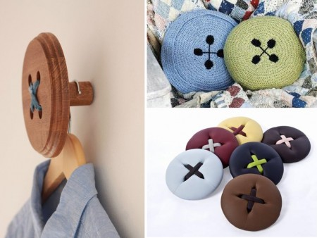 cushions and hangers with buttons