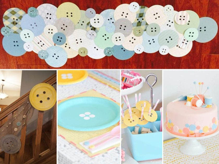 decoration with buttons for parties