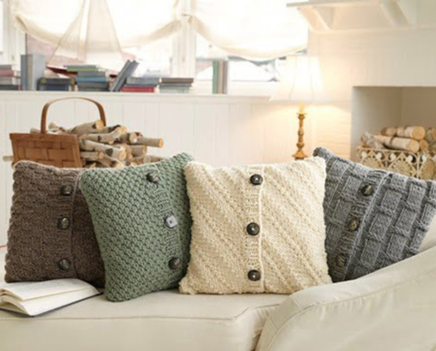 Cushions made with old jerseys