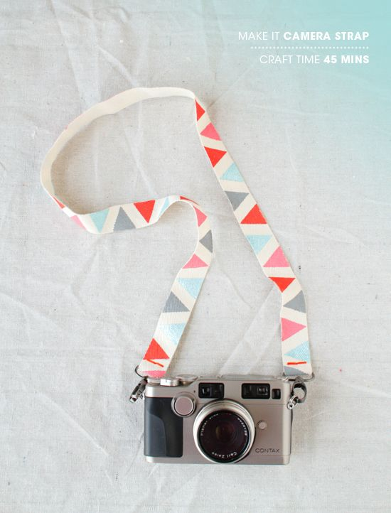 Fabric ribbon decorated for the camera