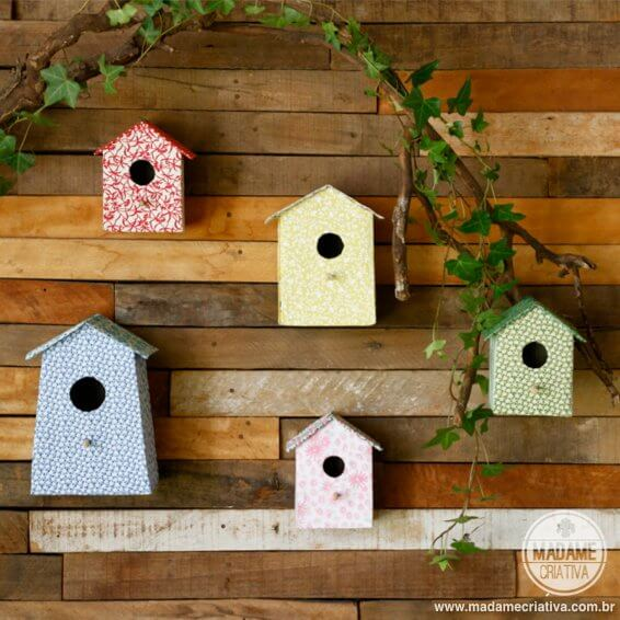 Birdhouses with tetrabriks