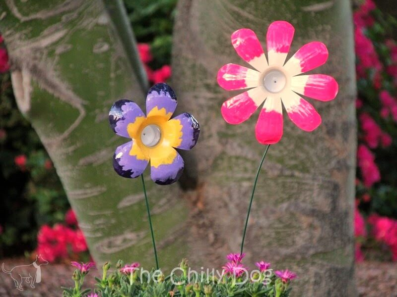 DIY flowers made with plastic bottles