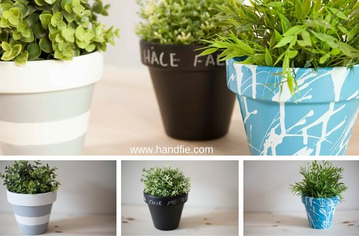 Decorated flower pots
