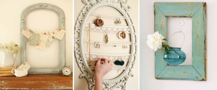 Vintage crafts with recycled frames