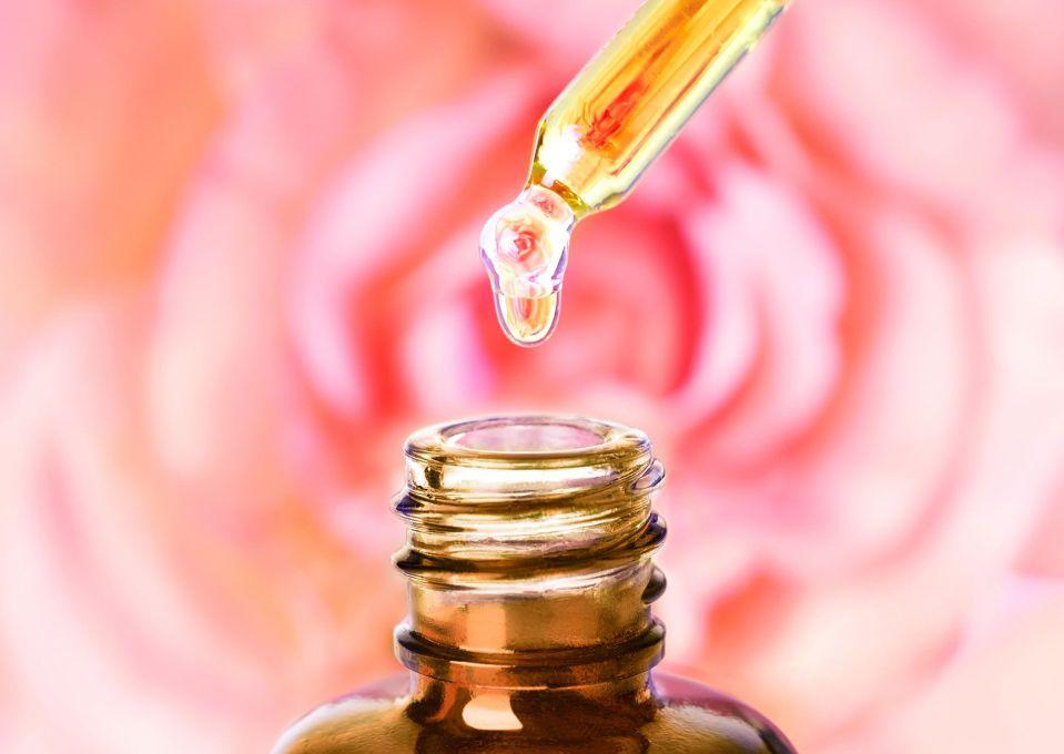oil roses wrinkles skin