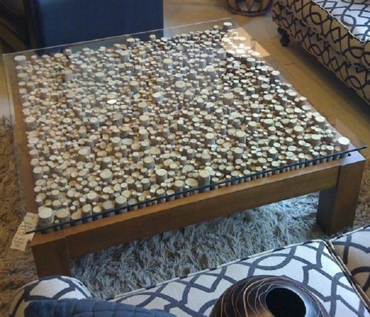 Coffee table surface