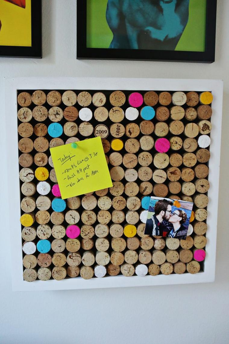 Custom cork bulletin board