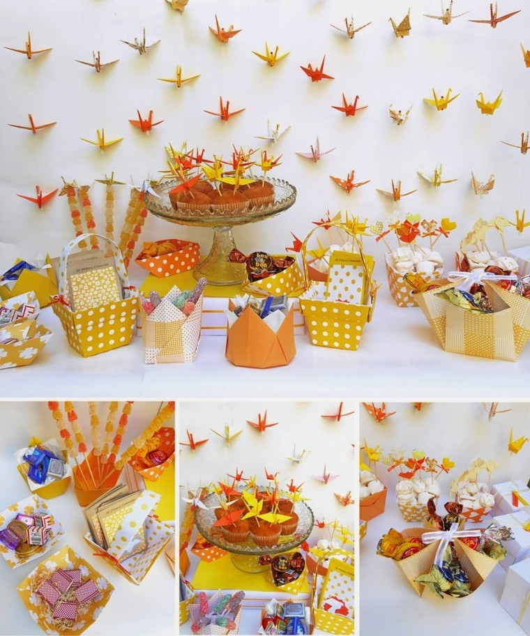 paper ornaments for candy wall