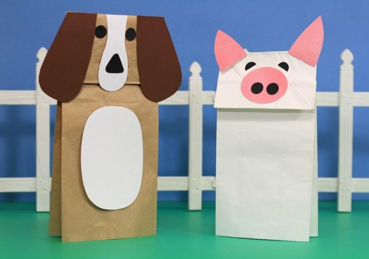animal paper bags farm